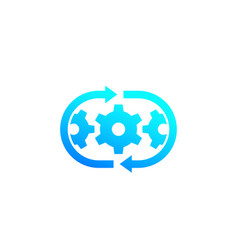 Optimization process operations icon vector