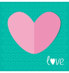 Paper heart on blue background Love Valentines day vector image