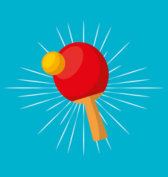 ping pong sport emblem icon vector image