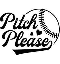 pitch please on white background vector image
