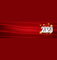 red chrisrmas new year background 2020 greeting vector image