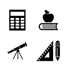 School inventory simple related icons vector