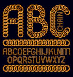 script modern alphabet letters abc set capital vector image