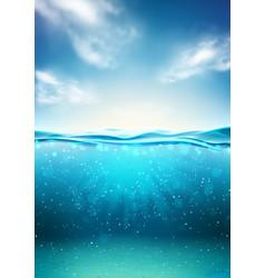 Sea landscape underwater space vector
