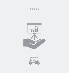 service offer - financial statistic - minimal icon vector image