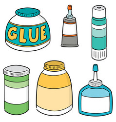 set of glue vector image