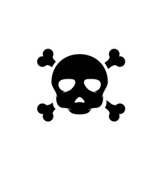 skull icon design vector image