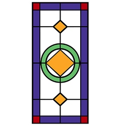 Stained glass vector image vector image