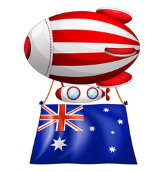 The flag of Australia attached to the floating vector image