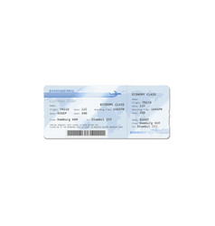 ticket boarding pass from london to new york vector image