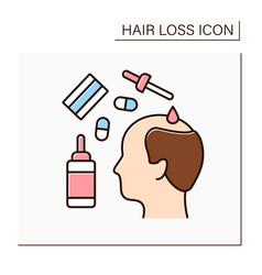 Treatment color icon vector