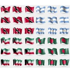 Trinidad and Tobago Argentina Kuwait Bangladesh vector