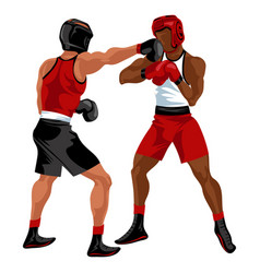 two boxers fighting battle spectacle event vector image
