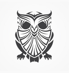 Vintage tribal owl vector