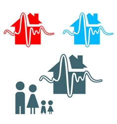 earthquake insurance icon vector image