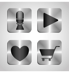 Mobile technology applications vector image