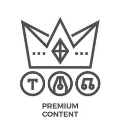 premium content line icon vector image vector image