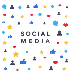 social media network like symbol flat vector image vector image