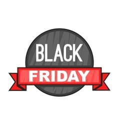 Black Friday sale icon cartoon style vector image vector image