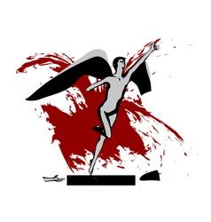 broken abstract statue vector image vector image