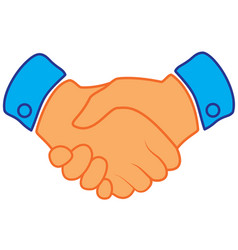 business handshake contract agreement flat icon vector image