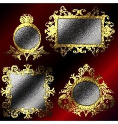 golden frames set vector image vector image