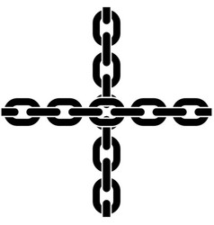 two crossed chains vector image vector image