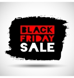 Black Friday Sale hand drawn grunge stain vector image