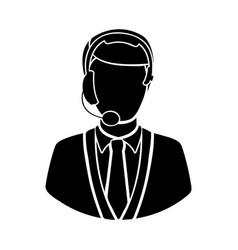 black man techical man customer support vector image