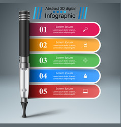 electronic cigarette - business infographic vector image vector image