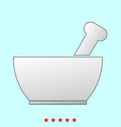 Mortar and pestle it is icon vector