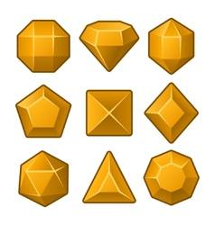 Set of Orange Gems for Match3 Games vector image