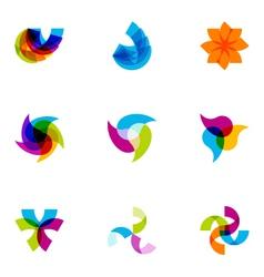 logo design elements set 02 vector image vector image