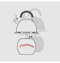 monochrome icon set with propane tank vector image vector image