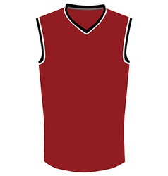Red basketball jersey vector image vector image
