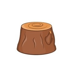 Tree stump icon cartoon style vector image