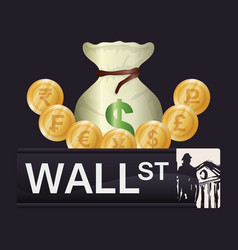 wall street new york investment vector image
