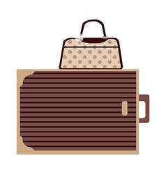 A suitcase vector