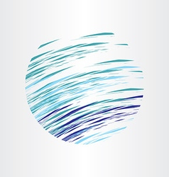 abstract blue water circle background design vector image vector image