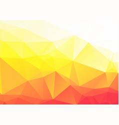 abstract yellow orange triangles background vector image