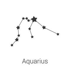 Aquarius sign constellation isolated icon vector