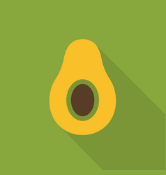 Avocado flat icon colorful logo vector