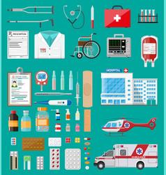 Big medical set vector