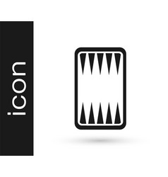 Black backgammon board icon isolated on white vector