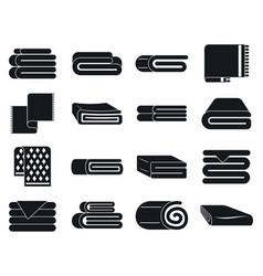 Blanket icons set simple style vector