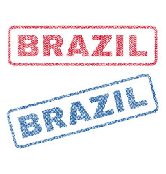 Brazil textile stamps vector