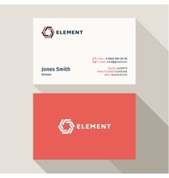 Business Card Qualitative elegant logo and vector image