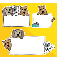 cartoon dog hold blank sign an vector image