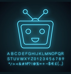 chatbot neon light icon vector image