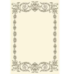 Classical vintage old frame design vector